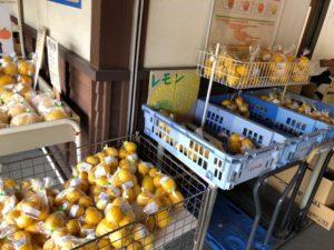 道の駅にはレモンが大量に販売
